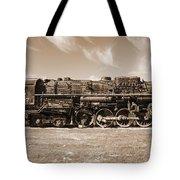 Vintage Steam Locomotive Tote Bag