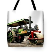 Vintage Steam Roller Tote Bag