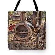 Vintage Steam Tractor Tote Bag