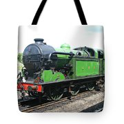 Vintage Steam Train In Green  Tote Bag