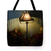 Vintage Still Life And Lamp Tote Bag