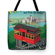 Pittsburgh Poster - Incline Tote Bag