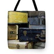 Vintage Suitcase Tote Bag