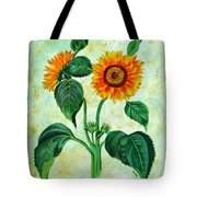 Vintage Sunflowers Tote Bag
