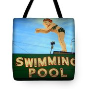 Vintage Swimming Lady Hotel Sign Tote Bag