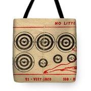 Vintage Target Card Tote Bag
