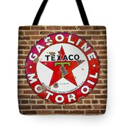 Vintage Texaco Gasoline Sign Dsc07195 Tote Bag
