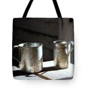Vintage Tin Cups Tote Bag