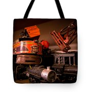 Vintage Toy Trains Tote Bag