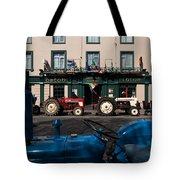 Vintage Tractors Lined Tote Bag