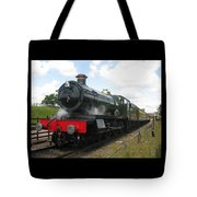 Vintage Train Black Steam Engine Tote Bag