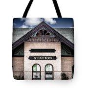 Vintage Train Station Tote Bag