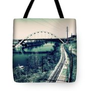 Vintage Train Tracks In Nashville Tote Bag