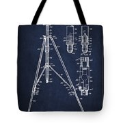 Vintage Tripod Patent Drawing From 1941 Tote Bag