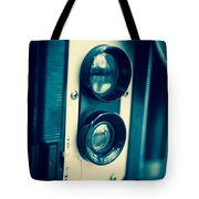 Vintage Twin Lens Reflex Camera Tote Bag by Edward Fielding
