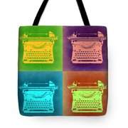 Vintage Typewriter Pop Art 1 Tote Bag