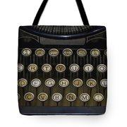 Vintage Typology Tote Bag by Heather Applegate