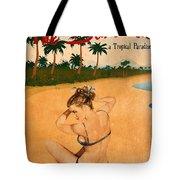Vintage Vacation Ad Tote Bag