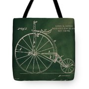 Vintage Velocipede Patent Tote Bag