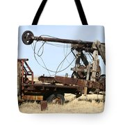 Vintage Water Well Drilling Truck Tote Bag