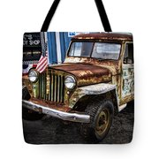 Vintage Willy's Jeep Pickup Truck Tote Bag