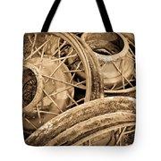 Vintage Wire Wheels Tote Bag