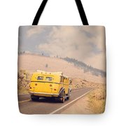 Vintage Yellowstone Bus Tote Bag