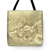 Vintage Yosemite Map 1870 Tote Bag