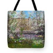Viola's Apple And Cherry Trees Tote Bag