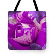 Violet And White Rose Tote Bag by Bruce Nutting