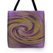 Violet And Yellow In Motion Tote Bag
