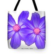 Violet Asters Tote Bag