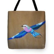 Violet-breasted Roller Bird II Tote Bag