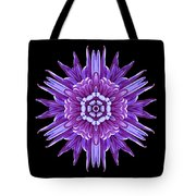 Violet Chrysanthemum Iv Flower Mandala Tote Bag