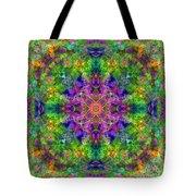 Violet Cosmos Mandala Tote Bag