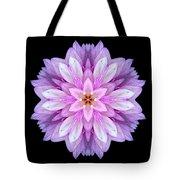 Violet Dahlia I Flower Mandala Tote Bag