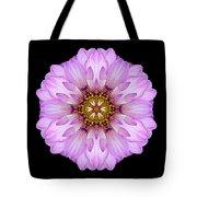 Violet Dahlia II Flower Mandala Tote Bag