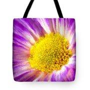 Violet Flower Macro Tote Bag