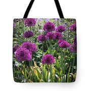 Violet Flowerbed Tote Bag