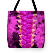 Violet Heliconia Flower Tote Bag