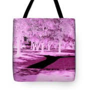 Violet Illusion Tote Bag