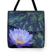 Violet Lily Tote Bag