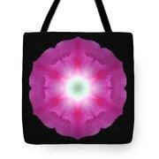 Violet Morning Glory Flower Mandala Tote Bag