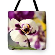 Violet Orchids Brushed With Gold Tote Bag