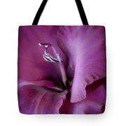 Violet Passion Gladiolus Flower Tote Bag
