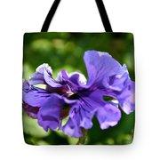 Violet Ruffles Tote Bag