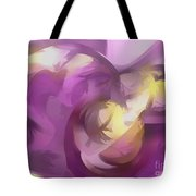 Violet Summer Pastel Abstract Tote Bag