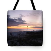 Violet Sunset Over The Sea Tote Bag