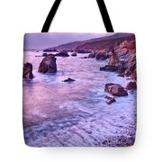 Violet Tides - Rocky Coast From Soberanes Point In Garrapata State  Tote Bag