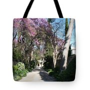 Violet Tree Alley Tote Bag